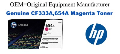 New Original HP 654A Magenta Toner Cartridge (CF333A)