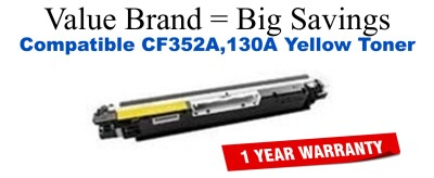CF352A,130A Yellow Compatible Value Brand toner
