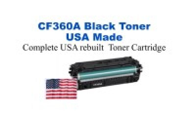 CF360A,508A Black Premium USA Made Remanufactured HP toner