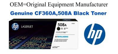New Original HP 508A Black Toner Cartridge (CF360A)