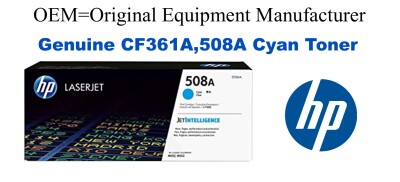 New Original HP 508A Cyan Toner Cartridge (CF361A)