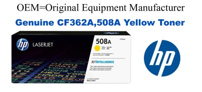 New Original HP 508A Yellow Toner Cartridge (CF362A)