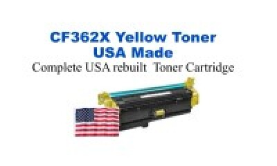 CF362X,508X High Yield Yellow Premium USA Made Remanufactured HP toner