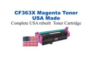 CF363X,508X High Yield Magenta Premium USA Made Remanufactured HP toner