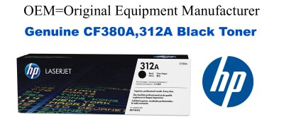 New Original HP 312A Black Toner Cartridge (CF380A)