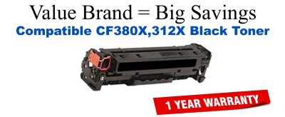 HP 312A Black Economy Toner Cartridge (CF380A)