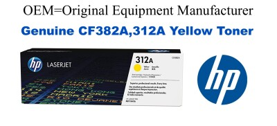 New Original HP 312A Yellow Toner Cartridge (CF382A)
