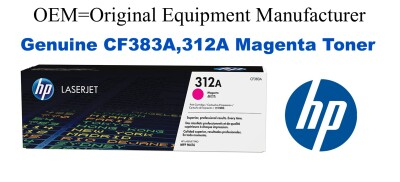 New Original HP 312A Magenta Toner Cartridge (CF383A)