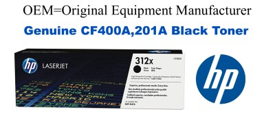 New Original HP 201A Black Toner Cartridge (CF400A)