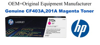 New Original HP 201A Magenta Toner Cartridge (CF403A)