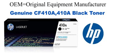 New Original HP 410A Black Toner Cartridge (CF410A)