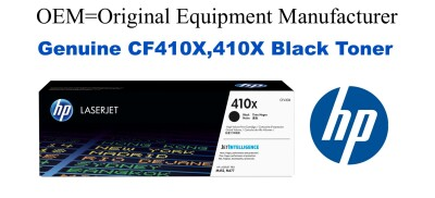 New Original HP 410X Black Toner Cartridge (CF410X)