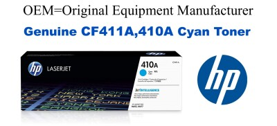New Original HP 410A Cyan Toner Cartridge (CF411A)