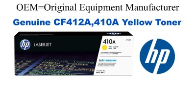 New Original HP 410A Yellow Toner Cartridge (CF412A)