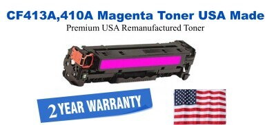 CF413A,410A Magenta Premium USA Made Remanufactured HP toner