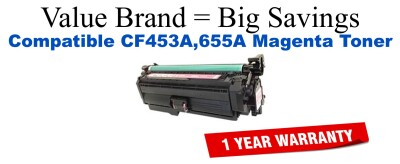 CF452A,655A Yellow Compatible Value Brand toner