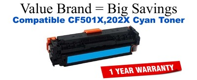HP 202X Cyan Remanufactured Toner Cartridge (CF501X)