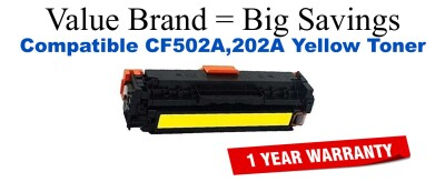HP 202A Yellow Remanufactured Toner Cartridge (CF502A)
