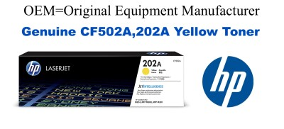 CF502A,202A Genuine Yellow HP Toner