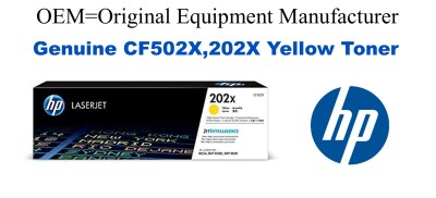 New Original HP 202X Yellow Toner Cartridge (CF502X)