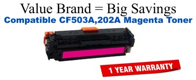 HP 202A Magenta Remanufactured Toner Cartridge (CF503A)