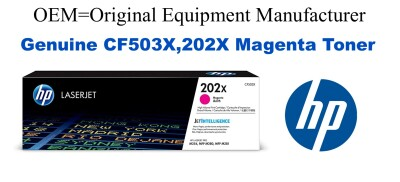 New Original HP 202X Magenta Toner Cartridge (CF503X)