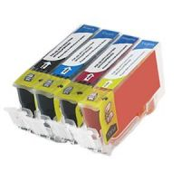 Canon CLI-221 - 4 Color Ink Set, Remanufactured BCMY Combo (CLI221)