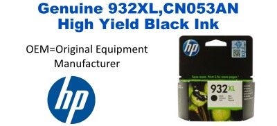 New Original HP 932XL Black Ink Cartridge (CN053AN) (#932XL)