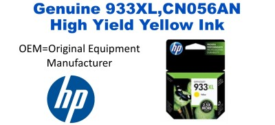 New Original HP 933XL Yellow Ink Cartridge (CN056AN) (#933XL)