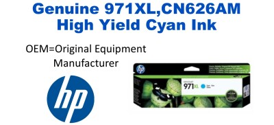 New Original HP 971XL Cyan Ink Cartridge (CN626AM) (#971XL)