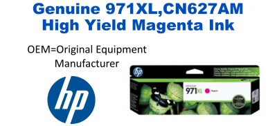 New Original HP 971XL Magenta Ink Cartridge (CN627AM) (#971XL)