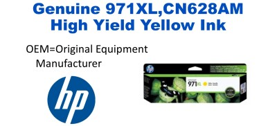 New Original HP 971XL Yellow Ink Cartridge (CN628AM) (#971XL)