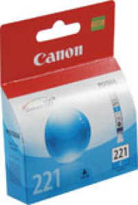 Genuine Canon CLI-221C Cyan Ink Cartridge (2947B001)