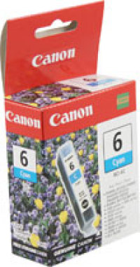 Genuine Canon BCI-6C Cyan Ink Cartridge (4706A003)