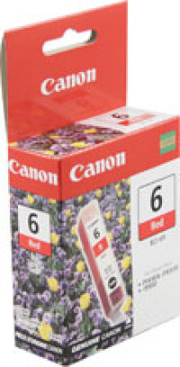 Genuine Canon BCI-6R Red Ink Cartridge (8891A003)