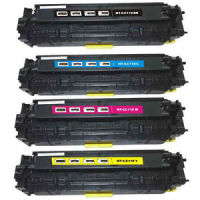 Canon CRG-118 - Remanufactured 4 Color Toner Catridge Set (Black, Cyan, Magenta, Yellow)