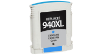 HP 940XL Remanufactured Ink Cartridge Cyan (C4907AN) (#940XL)