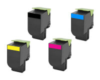 Lexmark CX310, CX410, CX510 Remanufactured Value Bundle (1 of Each Color) (2K Yield)
