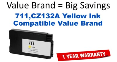 HP CZ132A Yellow Remanufactured Ink Cartridge