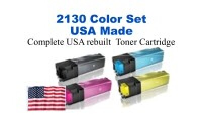 DELL2130SET USA Made Remanufactured Dell toner 2.5 per cartridge