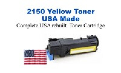DELL2150HY-YW USA Made Remanufactured Dell toner 2,500