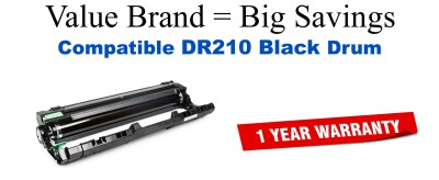 DR210K Black Compatible Value Brand Drum