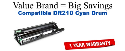 DR210C Cyan Compatible Value Brand Drum