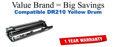 Brother DR210 Yellow Remanufactured Drum