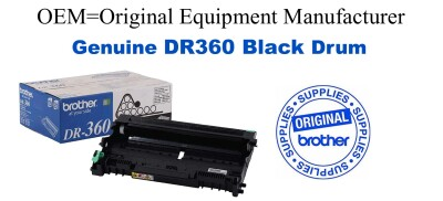 DR360 Black Genuine Brother Drum