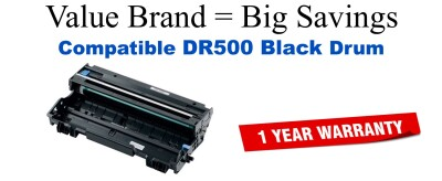 DR500 Black Compatible Value Brand Drum