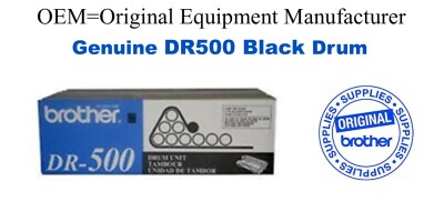 DR500 Black Genuine Brother Drum