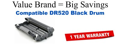 DR520 Black Compatible Value Brand Drum