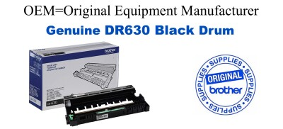 Genuine Brother DR630 Black Drum Cartridge