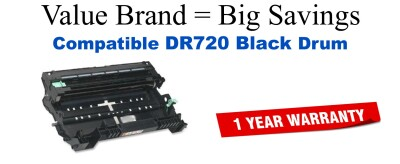 Brother DR720 Black Remanufactured Drum Cartridge